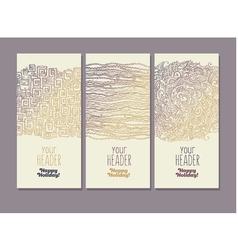 Hand drawn lace style banners or posters vector