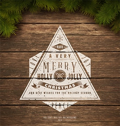 Holidays sign vector image vector image