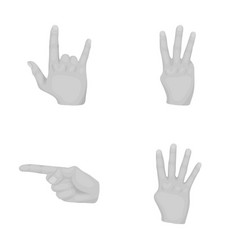 Indexfreedompaltshand gestures set collection vector