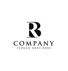 initial letter logo b and r rb bl monogram logo vector image