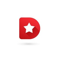 Letter d star logo icon design template elements vector