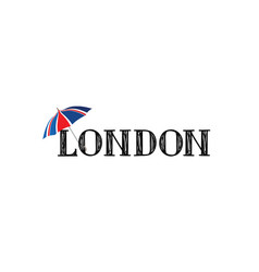 london brush style hand drawn lettering text vector image