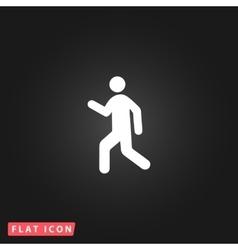 Man walk icon vector