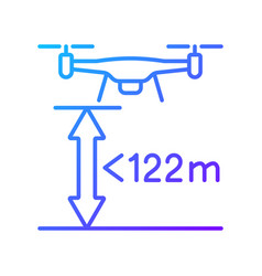 Max flight height gradient linear manual label vector