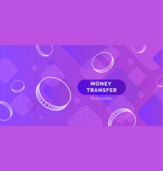 modern money transfer background vector image