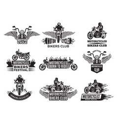 motorbike logos for bike club vector image
