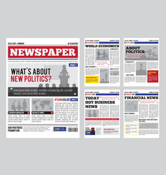 Newspaper design template vector