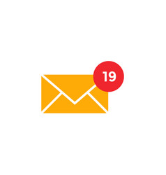 notifications mail graphic icon design template vector image