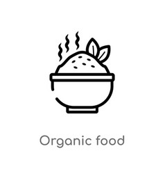 outline organic food icon isolated black simple vector image