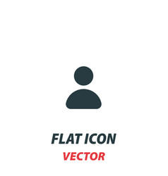 Person icon in a flat style pictograph on white vector