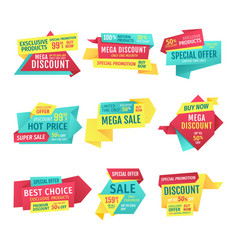 promotion and advert banners for clearance sale vector image