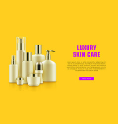 Quality cosmetic bottle poster vector
