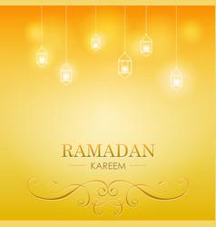 Ramadan kareem celebration vector