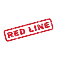 Red Line Rubber Stamp vector