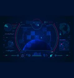 satellite interface vector image