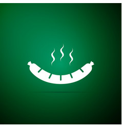 sausage icon on green background grilled sausage vector image