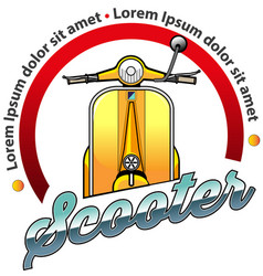 scooter community vector image