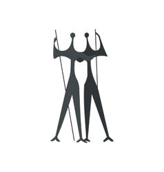 Sculpture two warriors artist bruno giorgi vector