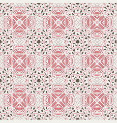 seamless abstract cute vintage geometric vector image