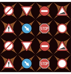 Seamless background with traffic signs vector