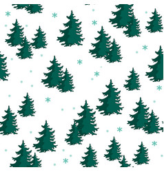 seamless pattern with colorful fir trees vector image