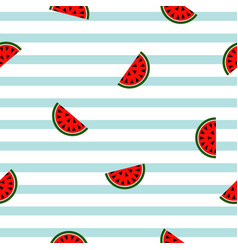 Seamless striped watermelon geometric pattern vector