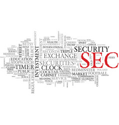 Sec word cloud concept vector