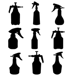 silhouettes of sprayer vector image