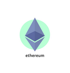 simple ethereum logo isolated on white vector image