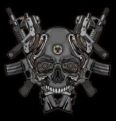 skulls and firearms logo vector image