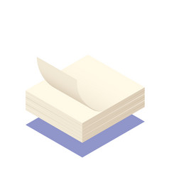 Sticky note isometric vector