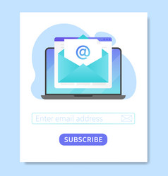 Subscribe to our newsletter web banner template vector