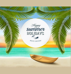 summer holidays background tropical paradise vector image