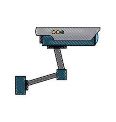 Surveillance camera warning video system sign vector