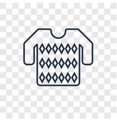 sweater concept linear icon isolated on vector image