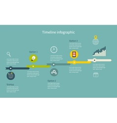 Timeline Infographic business with diagrams vector image