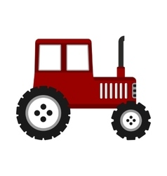 Tractor on white background vector