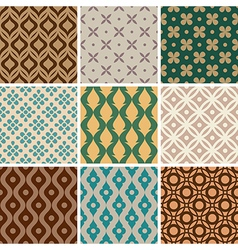 vintage ornament patterns vector image