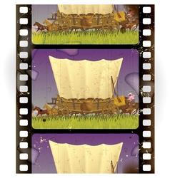 Vintage western film vector image