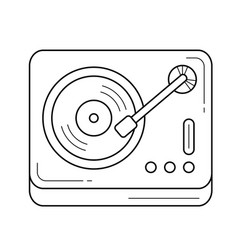 Vinyl record player line icon vector