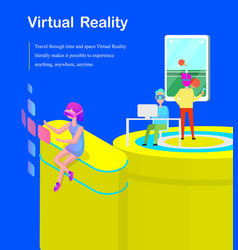 virtual reality poster text vector image