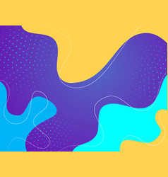 Wavy geometric background trendy color shapes vector