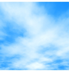White clouds on blue vector image vector image