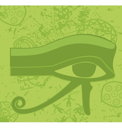 Grunge egyptian Eye of Horus ancient deity vector image vector image