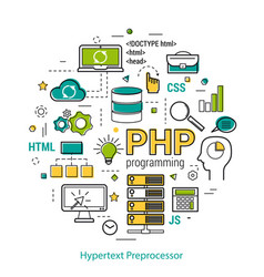 php line art concept vector image