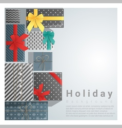 Set of gift boxes background on top view 2 vector