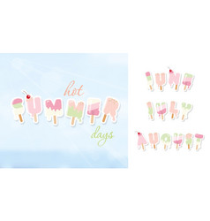Summer background june july august ice cream vector