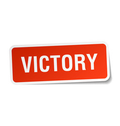 victory square sticker on white vector image vector image