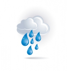 white cloud and drops vector image vector image