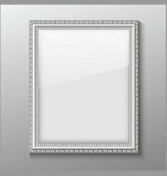 An empty frame on a wall vector